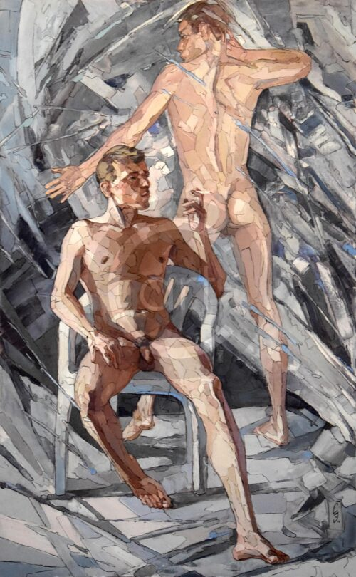 Sergey und Erwin Sovkov Painting: On the border of numbness