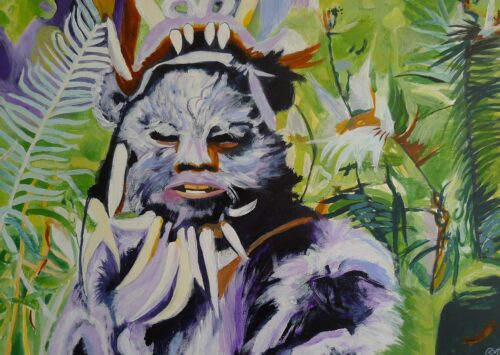 An Ewok On Endor Star Wars Painting Anne Suttner