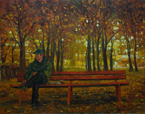 Autumn Evening Painting Sergey Sovkov