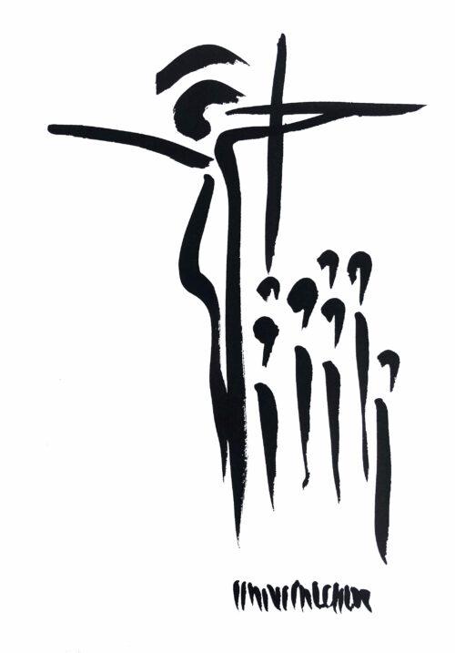Hans Salcher Painting: Pray for me