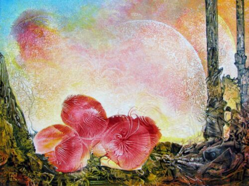Otto Rapp Painting: Bogomil Anniversary Flower