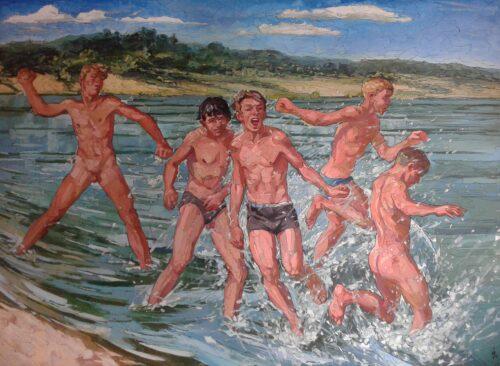 Brawlers Gay Art Painting Sergey Sovkov