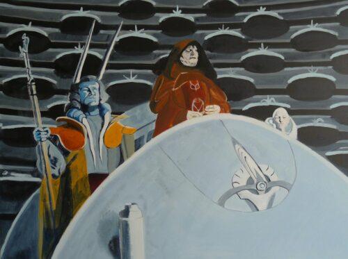 Chancellor Palpatine In Parliament That's How Democracy Dies Star Wars Painting Anne Suttner