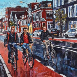 Cycling Gay Art Painting Sergey Sovkov