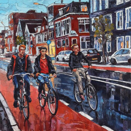 Sergey Sovkov Painting: Cycling