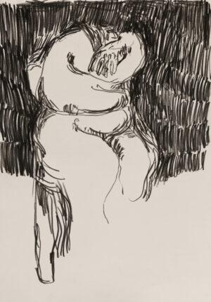 Daniel Leiter Buntstift Zeichnung Unbetitelt 1