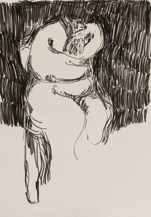 Daniel Leiter Drawing: Leiter – Untitled drawing 1