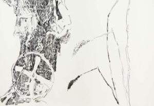Daniel Leiter Buntstift Zeichnung Unbetitelt 2
