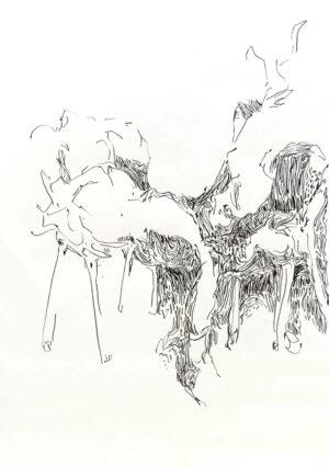 Daniel Leiter Buntstift Zeichnung Unbetitelt 4
