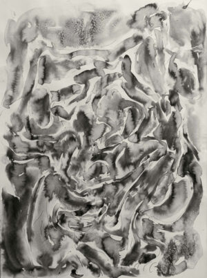 Daniel Leiter Painting Tusche Auf Buettenpapier