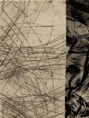 Daniel Leiter Stuecke Stoffcollage Monotypie Zeichnung 3