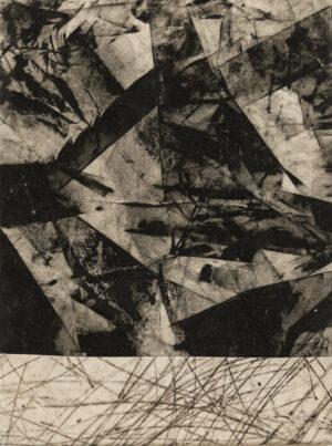 Daniel Leiter Stuecke Stoffcollage Monotypie Zeichnung 4