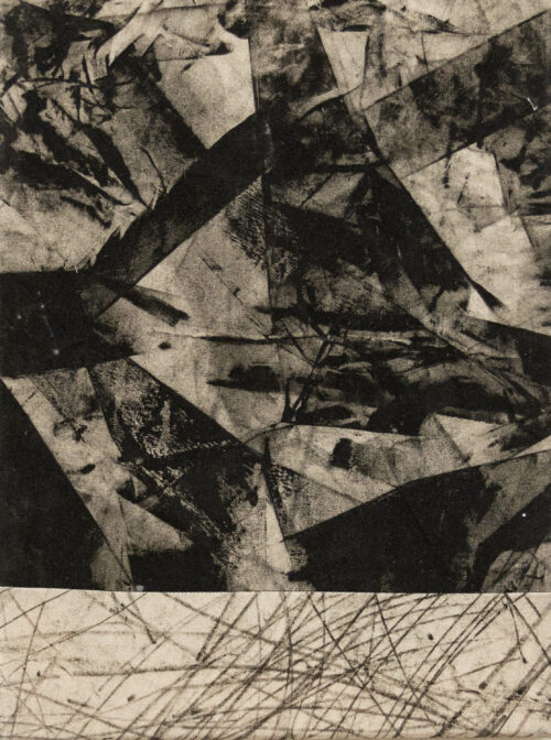 Daniel Leiter Drawing: Pieces Series – Monotype 4