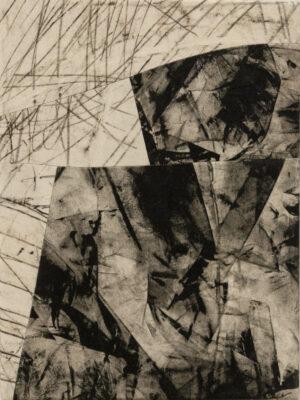Daniel Leiter Stuecke Stoffcollage Monotypie Zeichnung 6