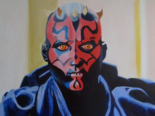 Anne Suttner Drawing: Darth Maul before his last fight