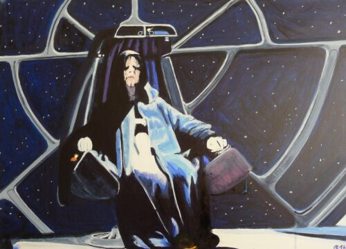 Darth Sidious The Dark Lord Of The Sith Star Wars Painting Anne Suttner