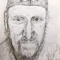 Ernst Fuchs Portrait Drawing