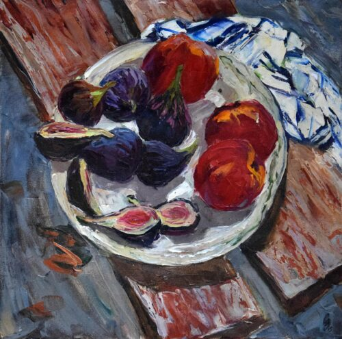 Figs And Peaches Painting Sergey Sovkov