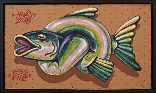 Fischknoten Hnrx Grafitti Bild
