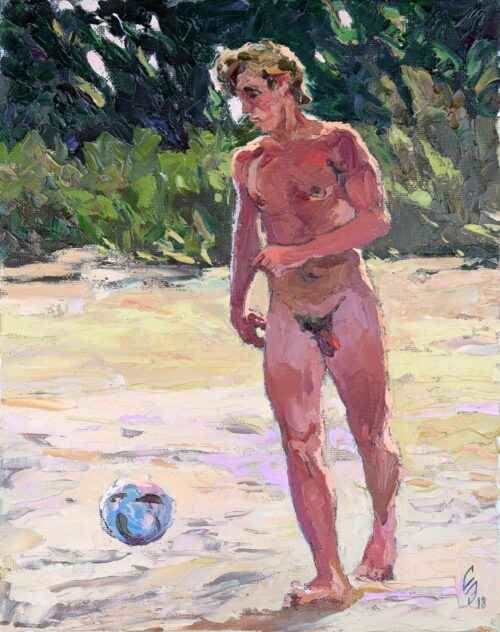 Football Player Gay Art Painting Sergey Sovkov