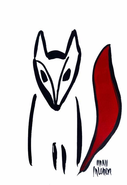 Hans Salcher Painting: Fox