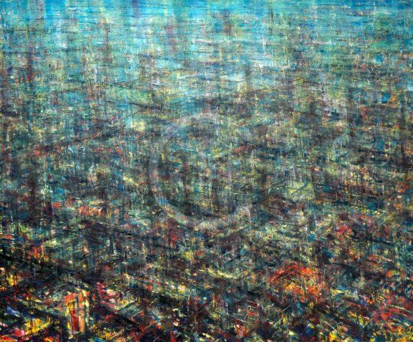 Growing City De Es Schwertberger Painting