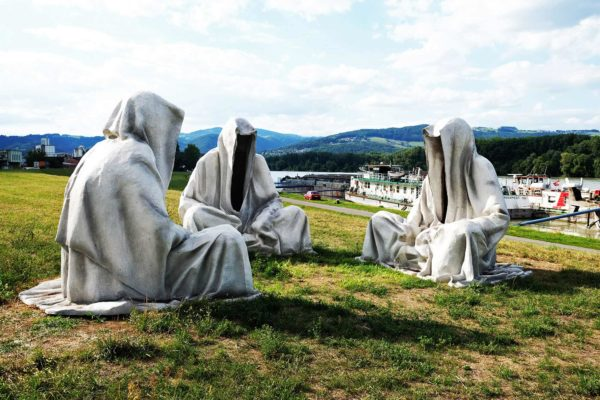 Guardians of time manfred kielnhofer sculpture statue