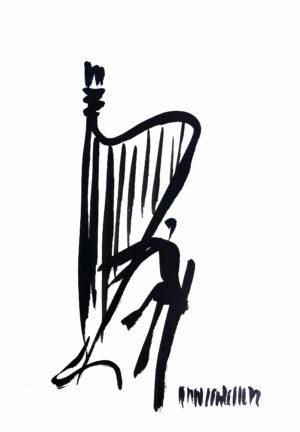 Harfe Bild Hans Salcher