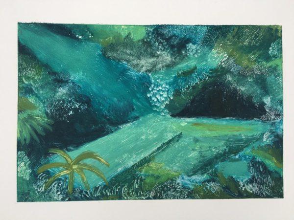 Hidden Oasis Gideon Summerfield Painting
