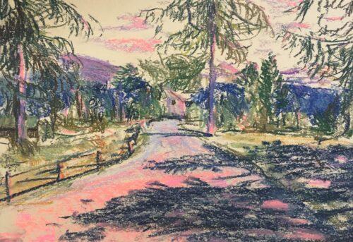 Highland Sunset Gideon Summerfield Painting
