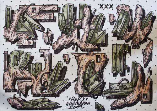 Hnrx Drawing 2 Graffiti Marker Paper