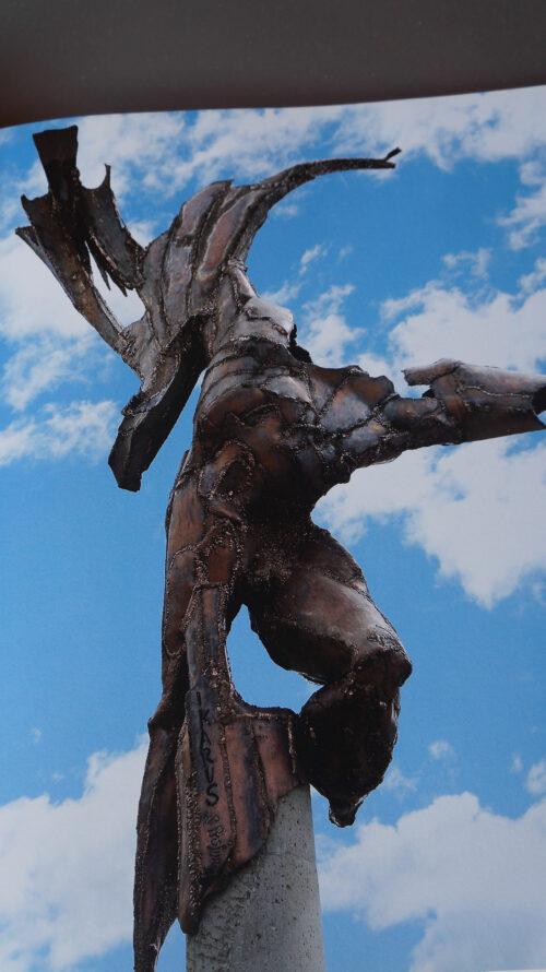 Ikarus bronze hans peter profunser skulptur