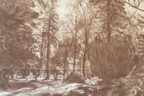 Invercauld house scotland gideon summerfield painting