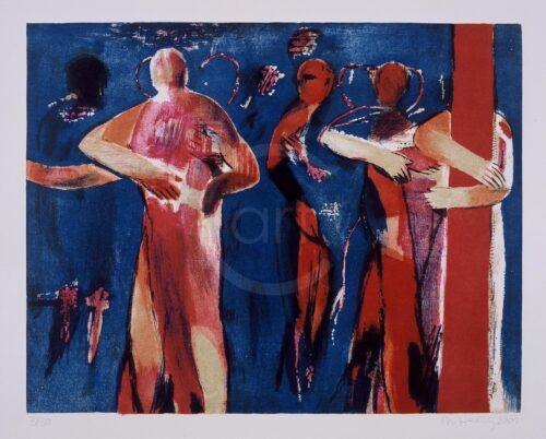 Koerper Blau Michael Hedwig Bild Lithographie