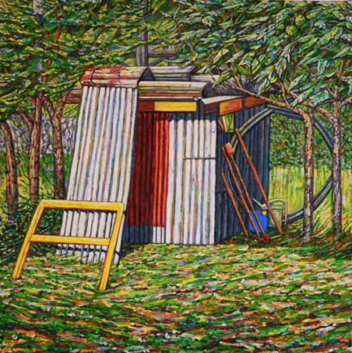Noel Paine Painting: Loro's shed