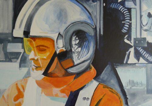 Luke Skywalker On The Way To The Death Star Star Wars Painting Anne Suttner