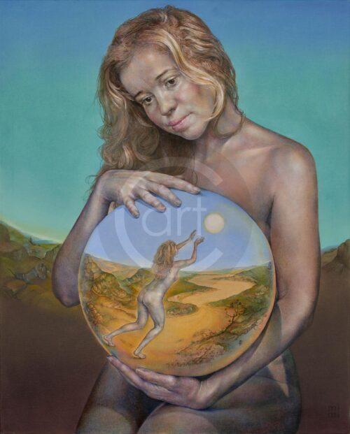 Madonna With Past Mimi Staneva Painting