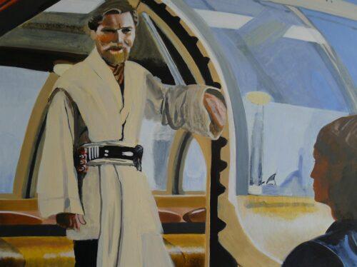 Master Obi Wan Kenobi With Padawan Anakin Star Wars Painting Anne Suttner