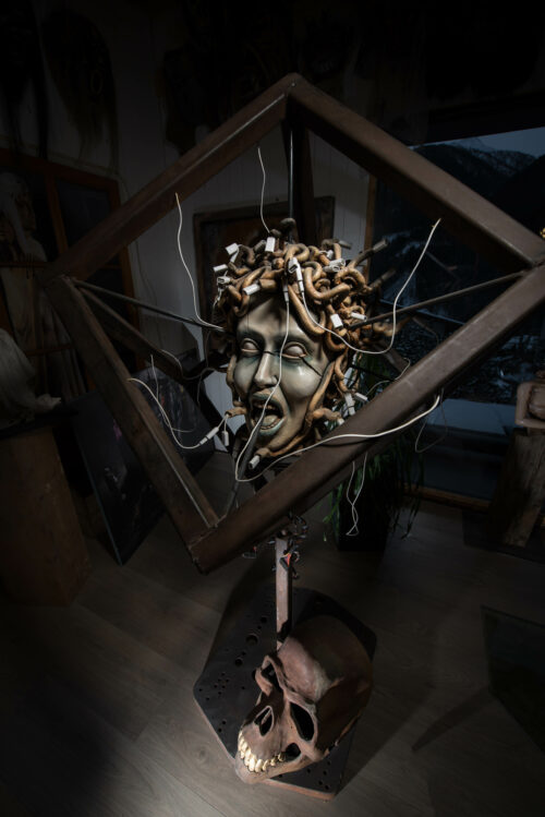 Michael Lang Sculpture: Medusa and the Snakes of the Presence