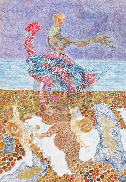 Simina Badea Painting: Mermaid on Goose