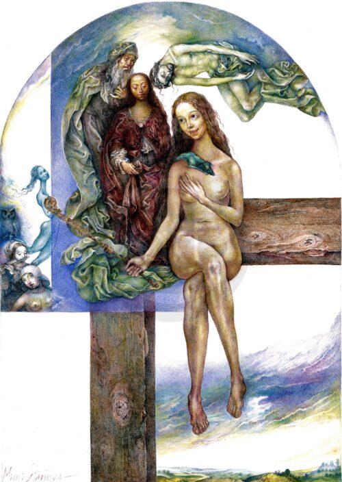 Muse On The Cross Mimi Staneva Bild