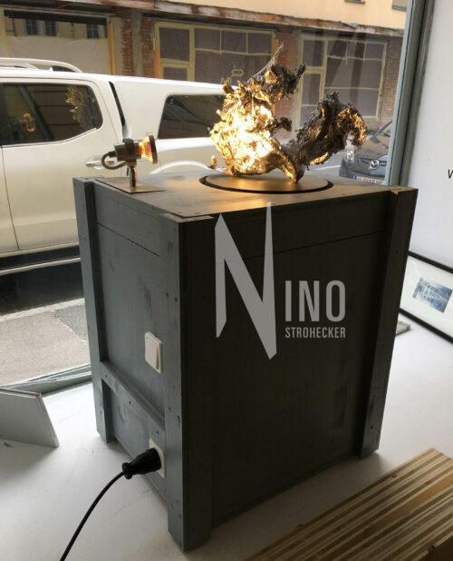 Oracle C O Incedence Nino Strohecker Nr 1 Skulptur Blei Gegossen
