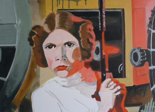 Anne Suttner Drawing: Princess Leia is hiding from the Imperial troops