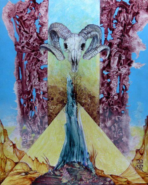 Otto Rapp Painting: Ram-bunctious Landscape