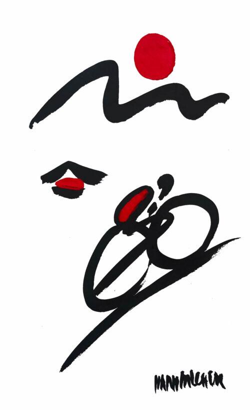 Hans Salcher Painting: Racing bike