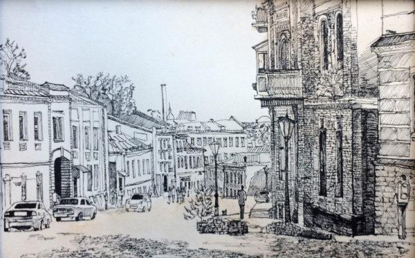 Road to the past ivan ogienko drawing