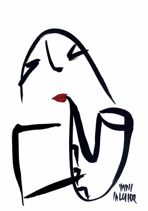 Hans Salcher Painting: Saxophone
