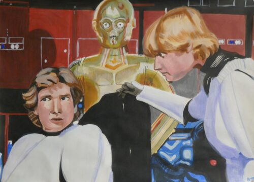 Anne Suttner Drawing: Star Wars Graphic 10