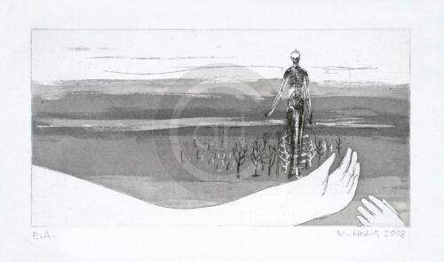 Sterntaler Nr 10 Michael Hedwig Bild Radierung