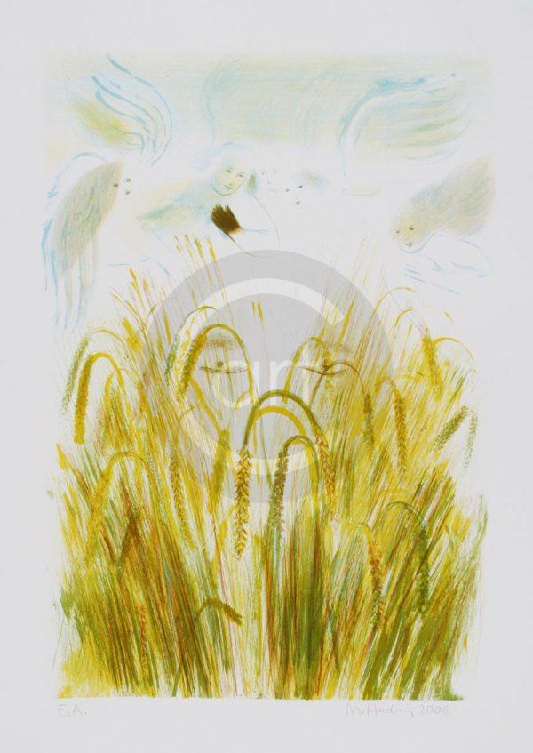 Sterntaler Nr 4 Michael Hedwig Bild Farblithografie